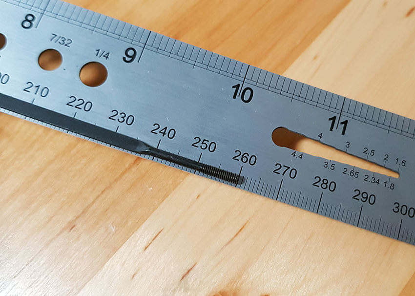 spoke length measuring tool